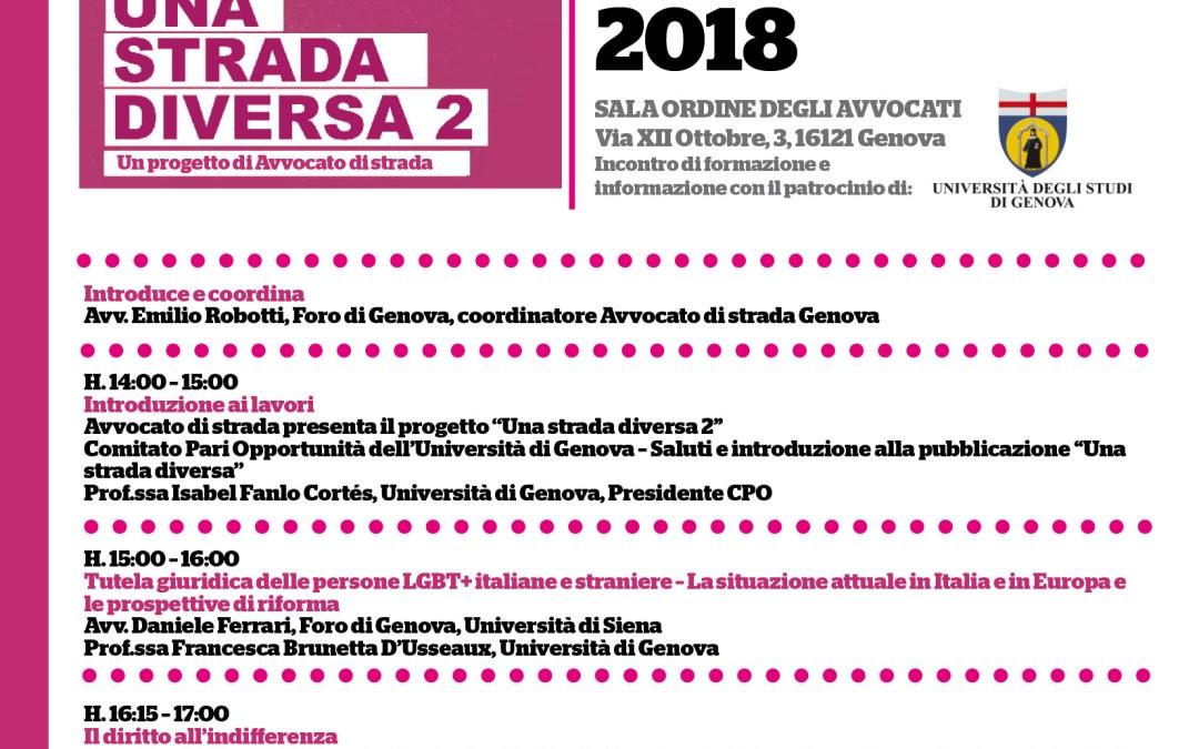 26.02.18, Genova. Una strada diversa: HOMELESSNESS e persone LGBT