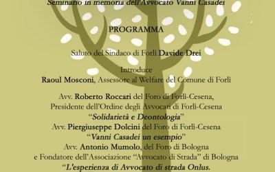 """18.05.18 Forlì: """"La strada degli avvocati?Avvocati al servizio di tutti"""""""