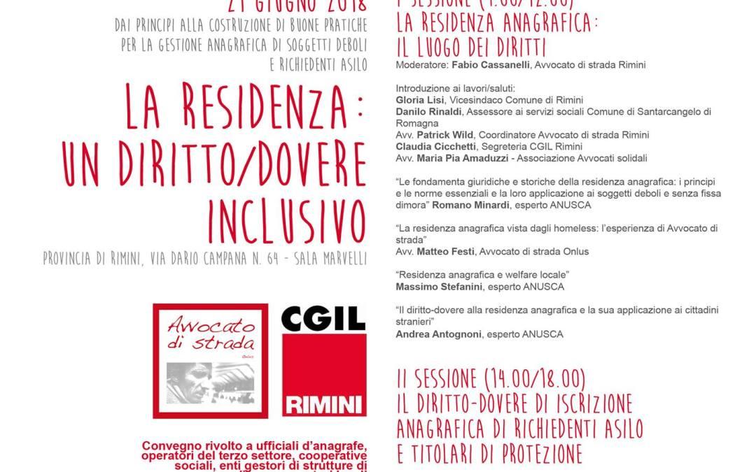 La residenza: un diritto/dovere inclusivo