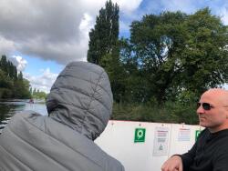 Johann and John on York cruise
