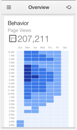 Instantly identify the most popular time for visits on your website