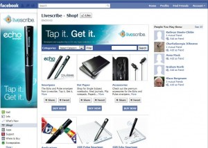 Livescribe Facebook store