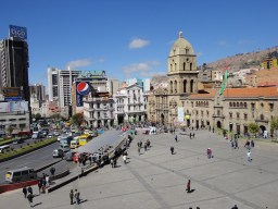 Plaza San Francisco in the heart of La Paz