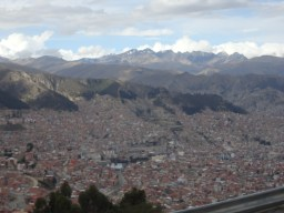 The city of La Paz, Bolivia