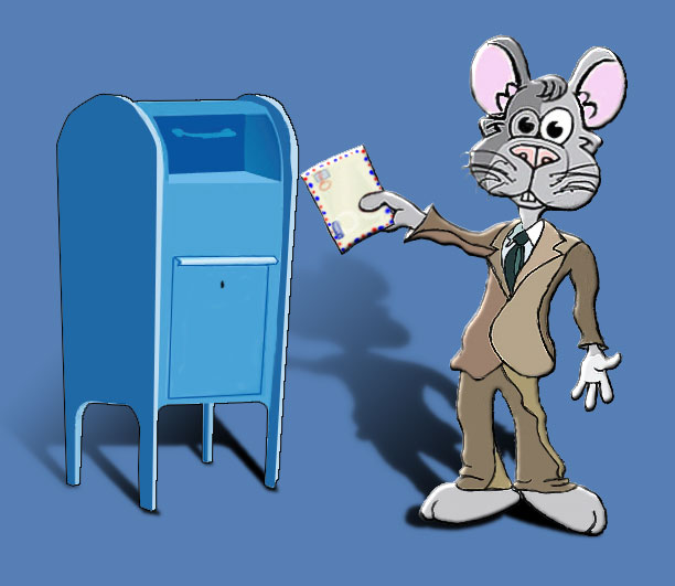 Charley Church Mouse - Mail