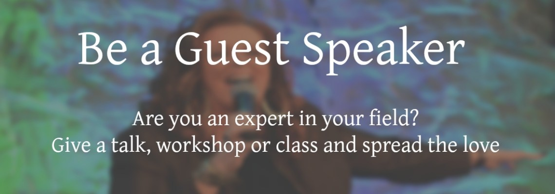 Be a Guest Speaker