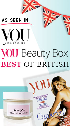 As Seen in You Magazine. You Beauty Box. Best of British. Aura Clean Deodorant. Natural Deodorant That Works. Organic. By Awake Organics. Press. New. Sign up, Subscription. Promo. Daily Mail Online. Sunday Mail. YouMagSocial. Beauty Box.