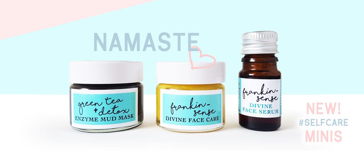 Namaste New SelfCare Minis. Awake Organics Natural Cosmetics.