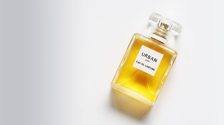 Awake Organics natural organic skin care and natural deodorant. Perfume air pollution, Perfume affect air quality. Perfume bottle.