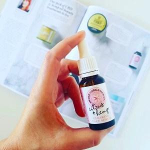 UK Hemp Oil Beauty. Citrus & Hemp Clearing Face Serum. In The Moment Magazine. By Awake Organics, UK.
