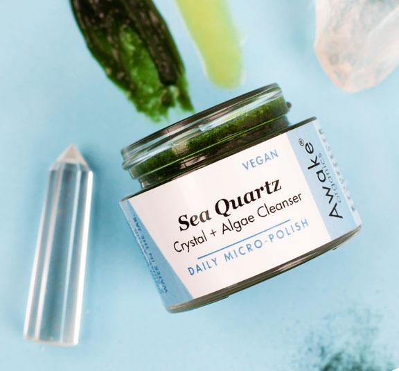 Sea Quartz | Crystal | Algae Cleanser | Vegan| Awake Organics | Colour Swatch Image