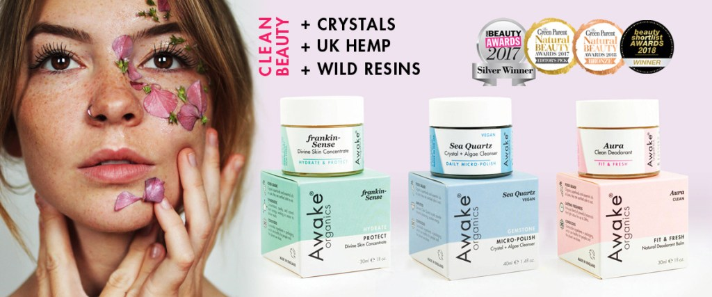 Awake Organics | Natural, Organic Skin Care Brand | UK | Made with Hemp | Frankincense | Crystals