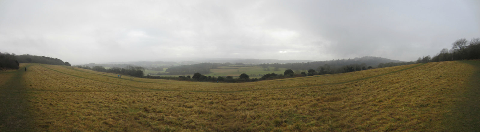 Albury Downs view - North Downs Way
