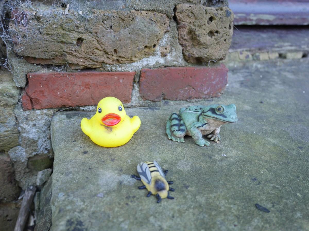 On a doorstep in Puttenham