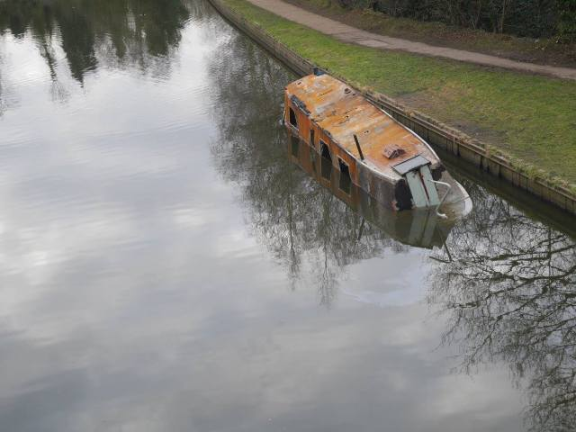 Oops - poor canal boat!