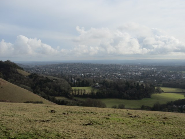 Pretty views from Colley Hill