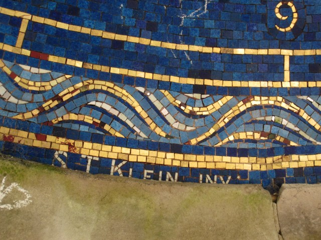 Close up of the mosaic