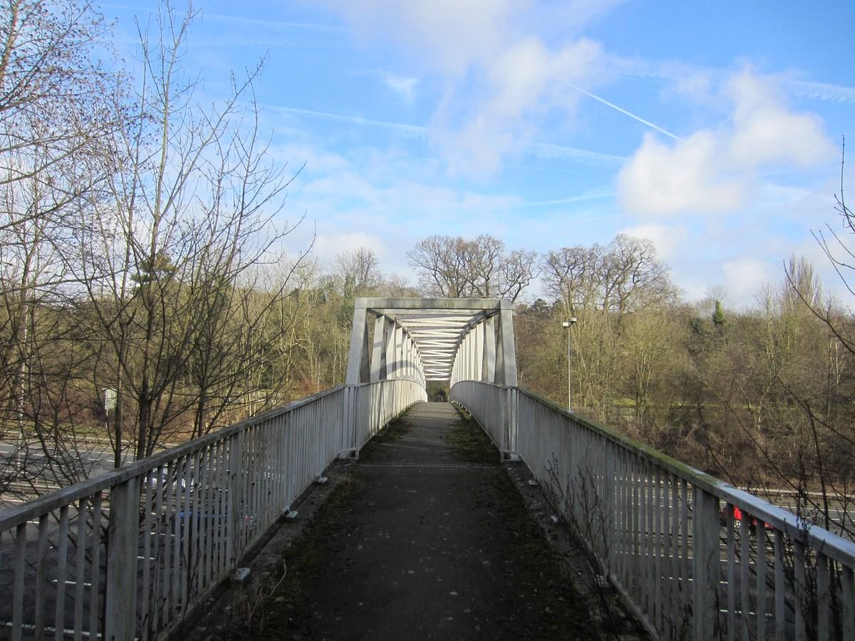 The M25 footbridge