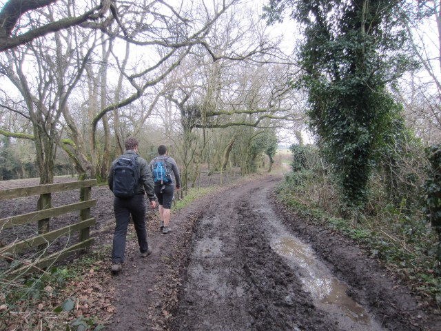 The muddiest path!