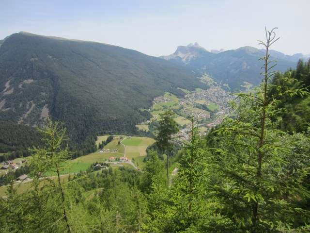 The views down to Ortisei/Sankt Ulrich