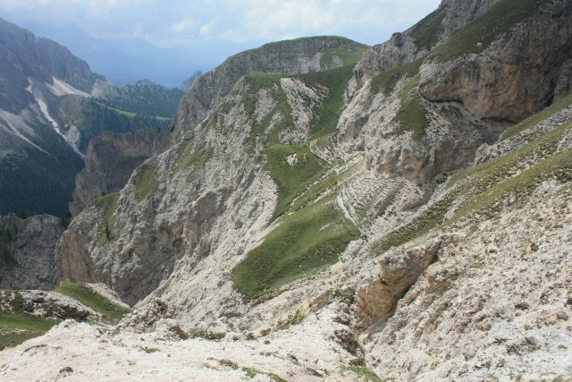 The ridge on the other side of Schlern/Sciliar's main ridge