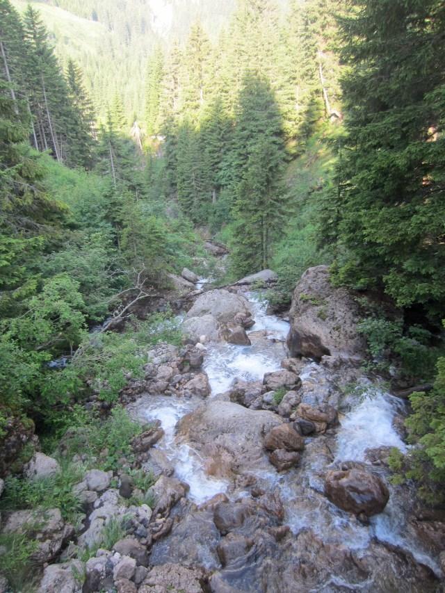 Pretty waterfall on Schlern/Sciliar