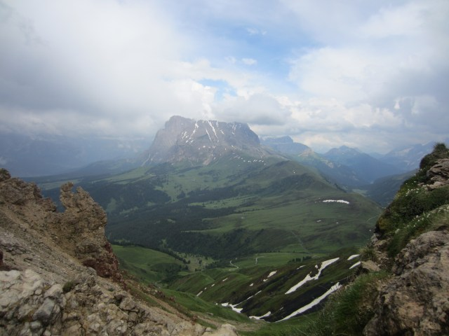 A view of Plattkofel/Sasplat - this is the mountain I wanted to climb next!