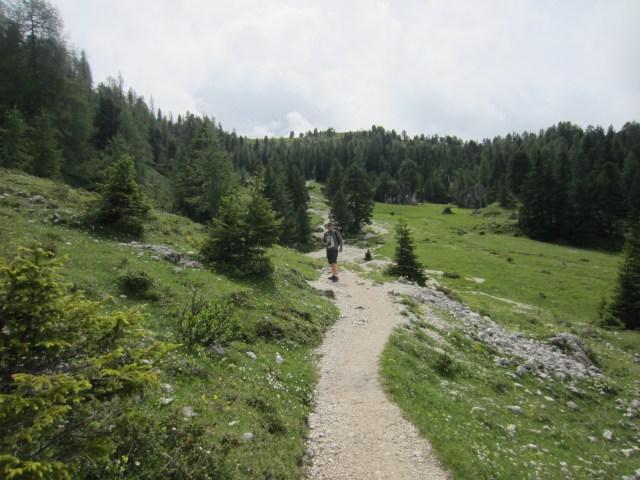 The valley behind Sasplat /Plattkofel