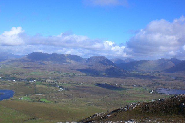View from Tully: From the left Benchoona, Garraun and Doughruagh
