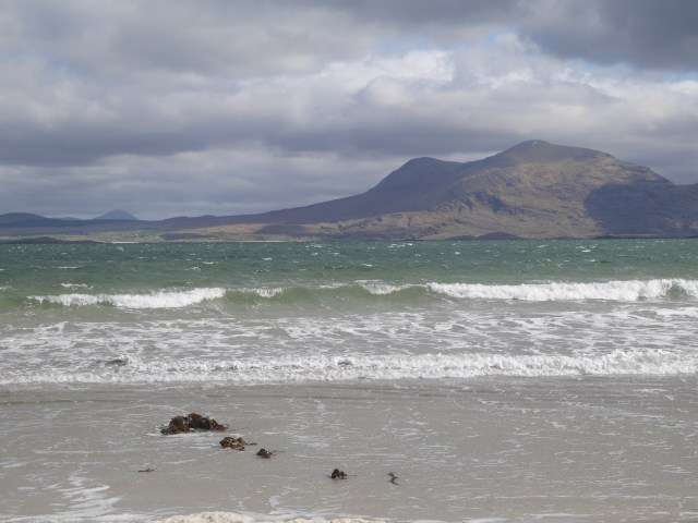 Tully beach with Mweelrea in the background
