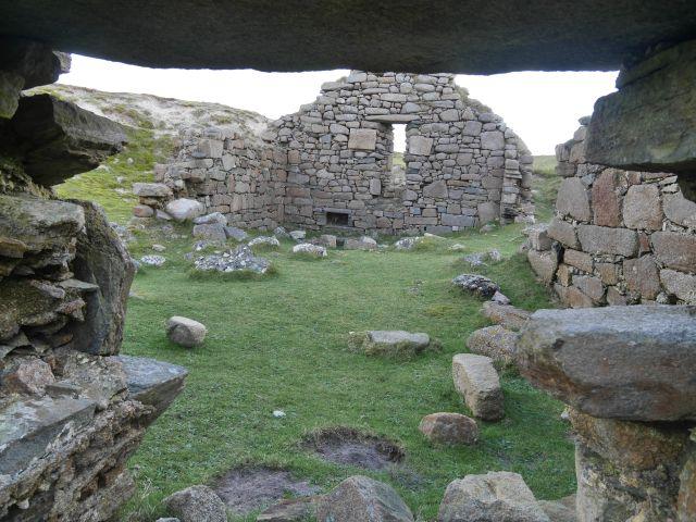 Omey island church