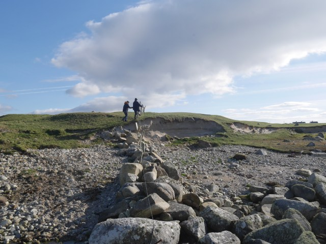 Mum and dad climbing around Aughrus More