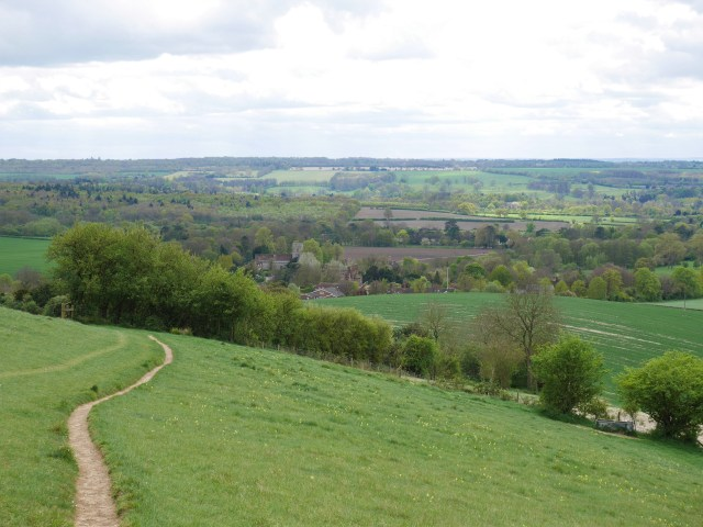 The path down to Hollingbourne