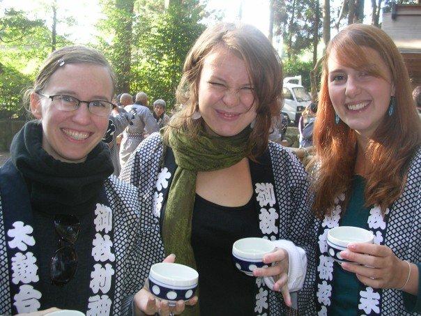 Early morning sake