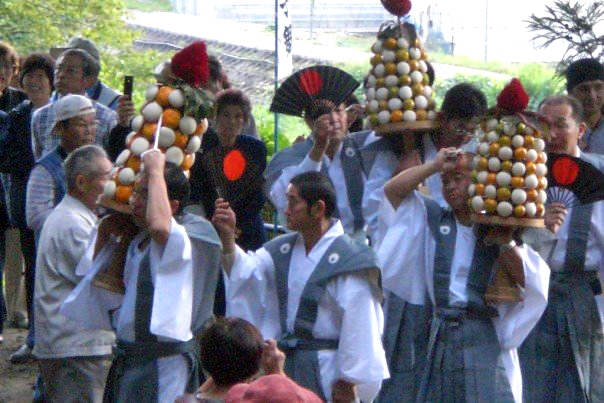 Mochi offerings - representing the heads of princes