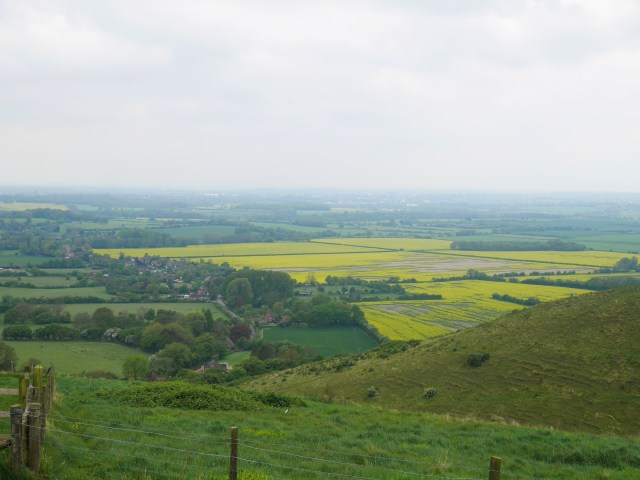 North Downs looking down to Kent