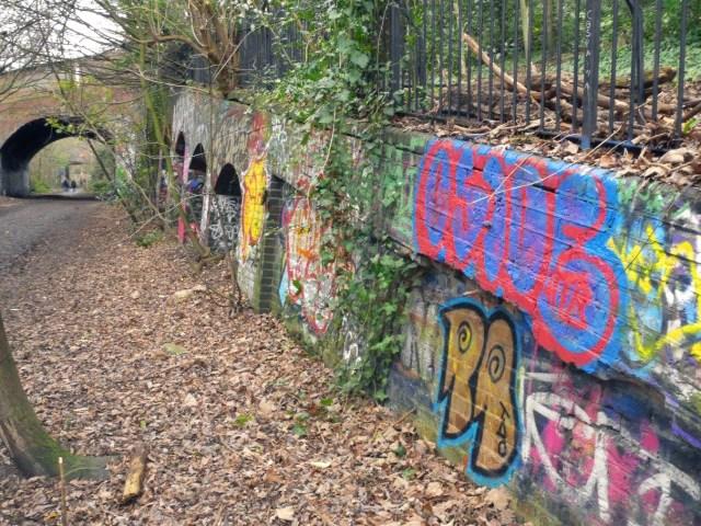 Arches halfway down the parkland walk