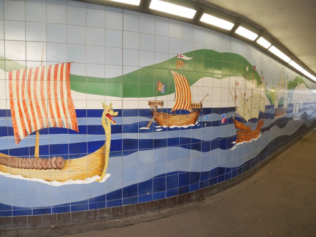 Tiles in the underpass
