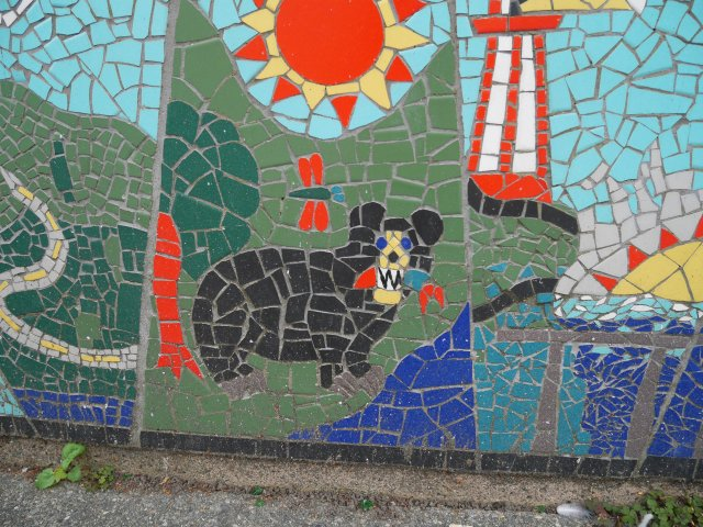 This was part of a larger mosaic...I just loved the bear!