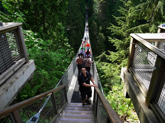 Marc on the Capilano Suspension bridge