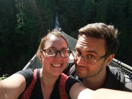 We're on Capilano Suspension bridge