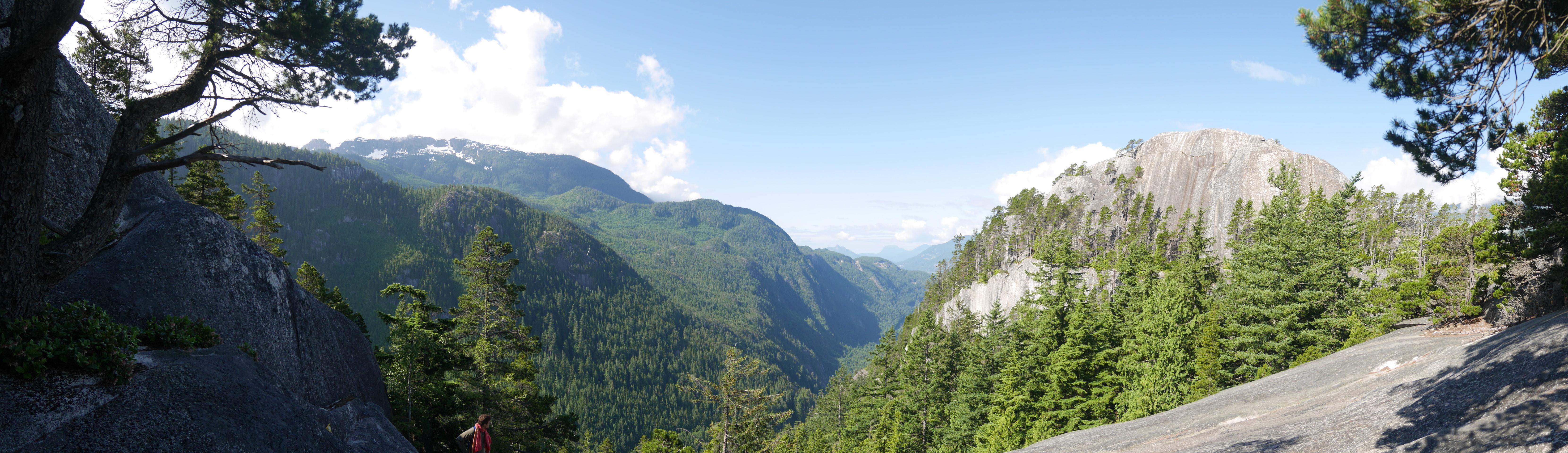 View to Stawamus Chief's first peak