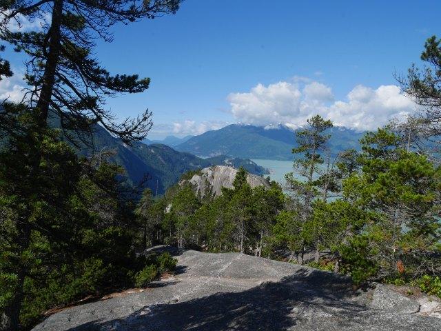 Looking down to 1st peak