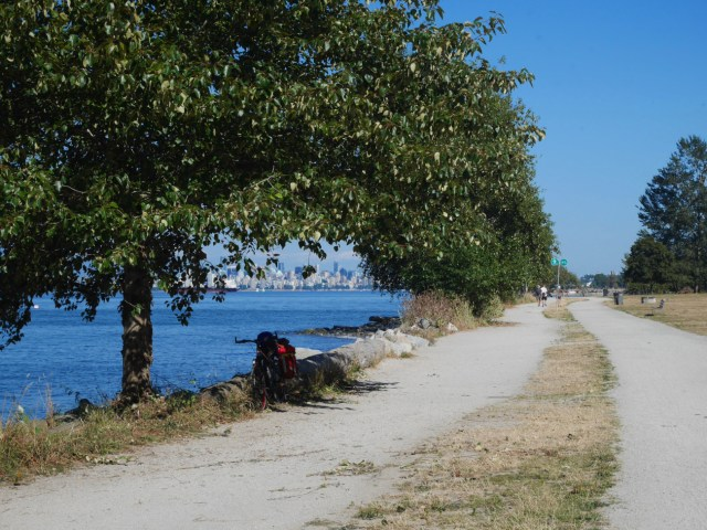 Cycle route by the sea
