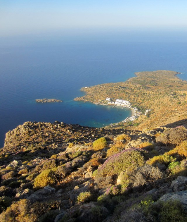 Looking down at Loutro