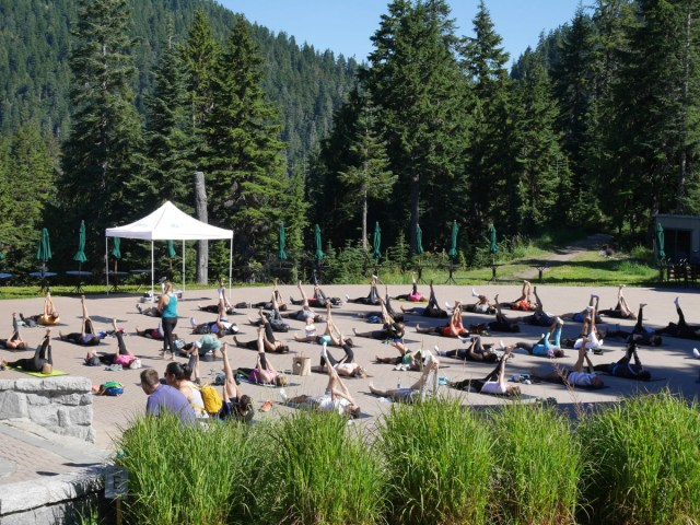 Grouse Mountain yoga