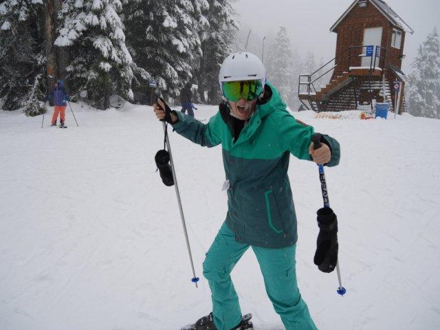I skied!