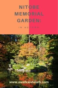 Nitobe Memorial Garden in autumn