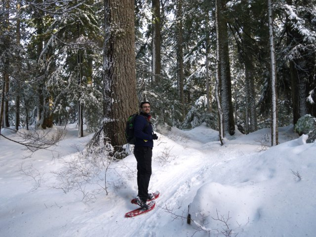 Marc in snowshoes