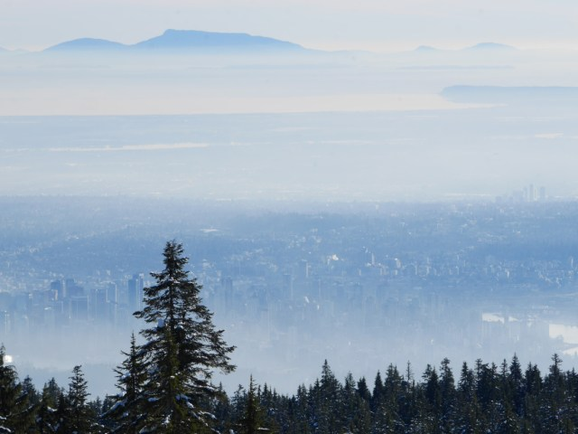 Vancouver from Hollyburn Mountain